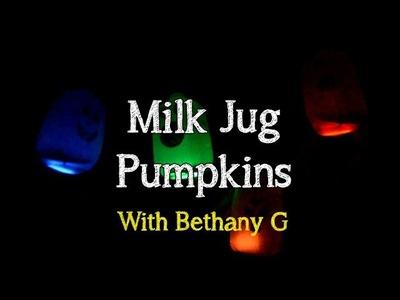 Halloween Craft - Milk Jug Pumpkins   Bethany G