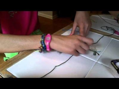 How to make a V bracelet out of string