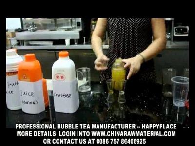 How to make bubble tea? bubble tea recipe