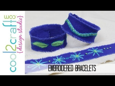 How to Make Embroidered Denim Bracelets