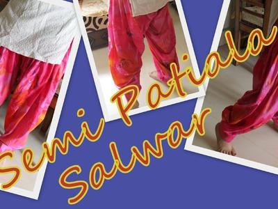 How to stitch semi-patiala salwar