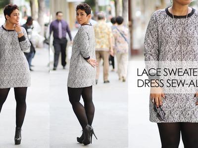 Lace Sweater Knit Dress Sew-Along