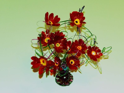 Recycled Plastic Craft: DIY Flower Showpiece made with Plastic Carton