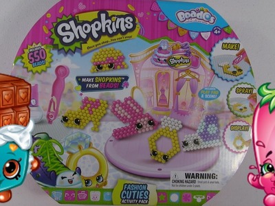 Shopkins Beados Fashion Cuties Activity Pack Toy Review | Craft Time Fun | PSToyReviews
