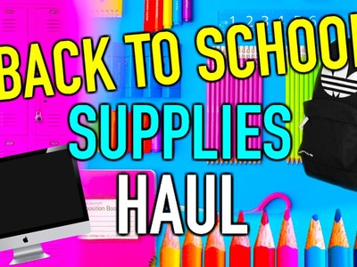 Back to school supplies haul 2015 + giveaway!