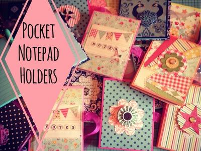 Craft Fair Idea #3:  Pocket Notepad Holders (with tutorial)