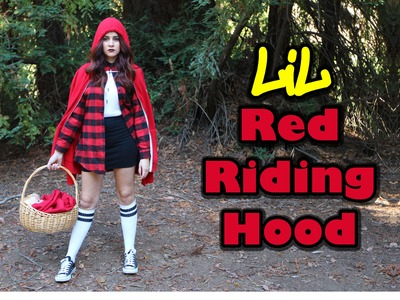 DIY Easy Halloween Costume: Chola Little Red Riding Hood || Lucykiins