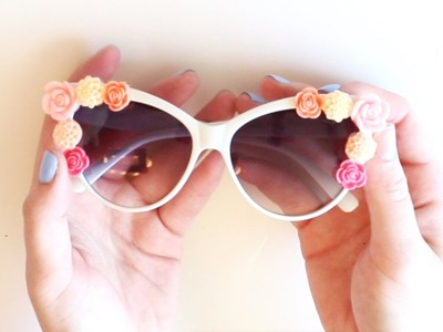DIY Flower Sunglasses (Coachella Ready!)