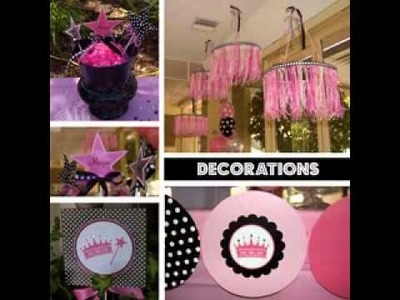 DIY princess party decorating ideas