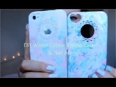 DIY Water Colour Phone Case & Nail Art | Masquerade Belle