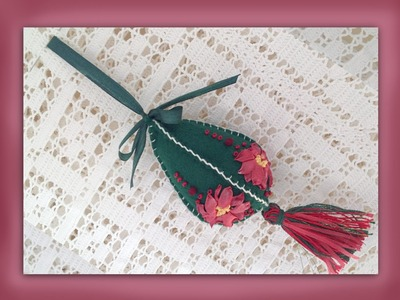 How to make a silk ribbon poinsettia christmas tree decoration