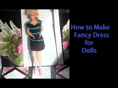 How to Make, Black & Blue Dress - Doll Clothes