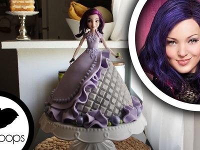 How to make Disneys Descendants: Mal Doll Cake