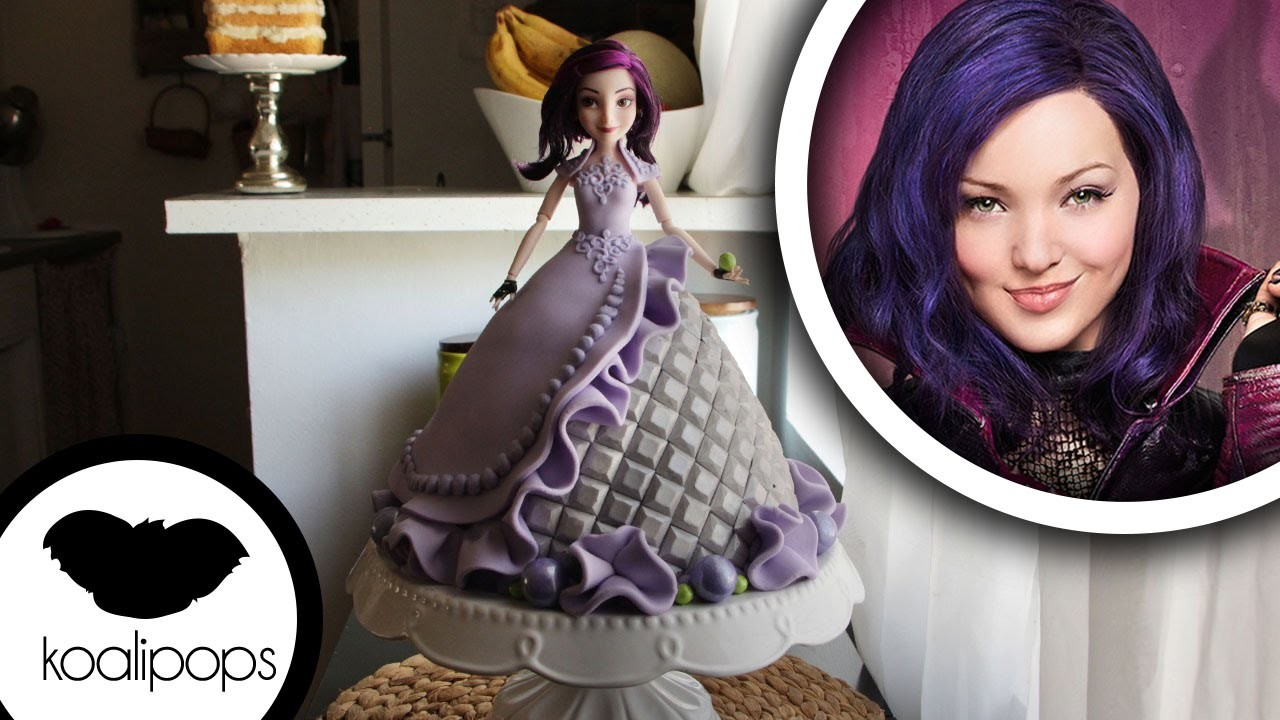 How to make Disneys Descendants: Mal Doll Cake