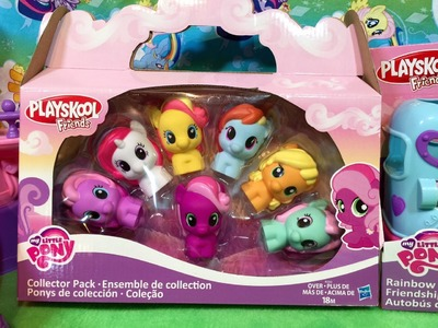 New Playskool Friends My Little Pony Collector Pack Applejack Rainbow Dash Cheerilee Moon Dancer