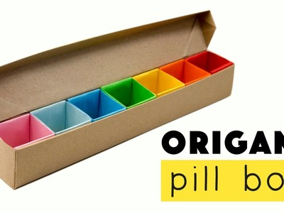 Origami Pill Box. Organizer Tutorial