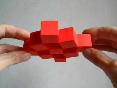 Papercraft - moving cubes - dutchpapergirl