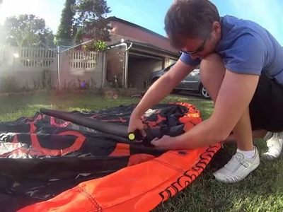 Sony Action Cam DIY kite strut mount - walkthrough