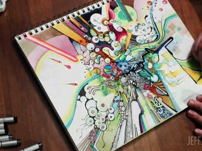 """Tubes of Wonder"" Watercolor + Pen & Ink Time-Lapse Illustration - JeffJag"
