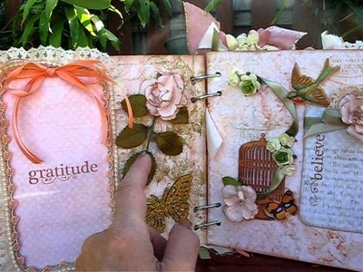 Two Shabby Chic Chipboard Albums