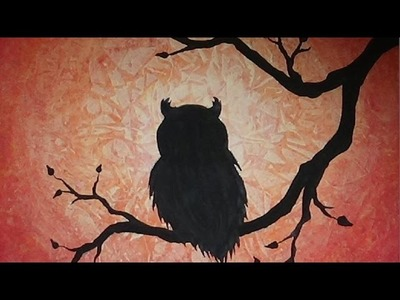 Acrylic Painting - Owl Silhouette - Part 2