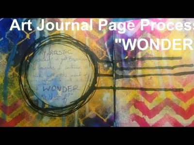 Art Journal Page-WONDER by Imperfect Impulses