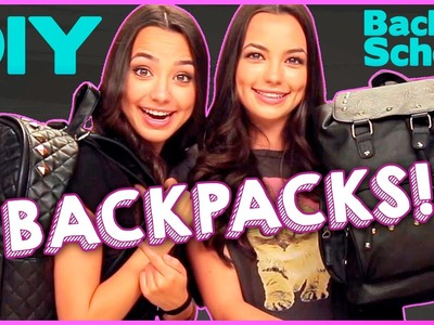 DIY Back to School Backpacks with The MerrellTwins