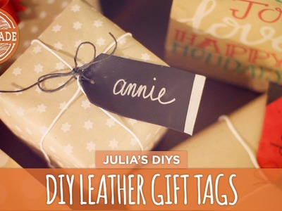 DIY Leather Gift Tags - HGTV Handmade