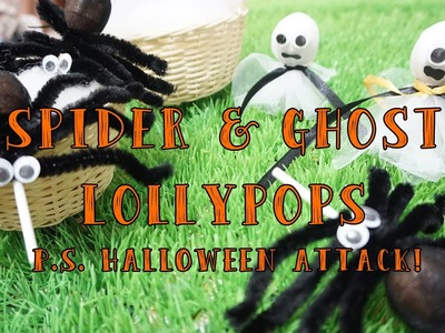 DIY Spider & Ghost Lollypops - Halloween Attack Popsicle Sister Indonesia