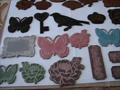 How to color embossed chipboard shapes