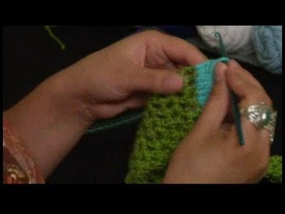 How to Crochet a Scarf : Adding Row of Solid Double Crochet Trim to Scarf