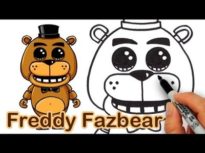How to Draw Freddy Fazbear from Five Nights at Freddy's Cute