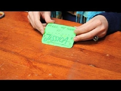 How to Dress Up Your Name Tag : Name Tags & Cards