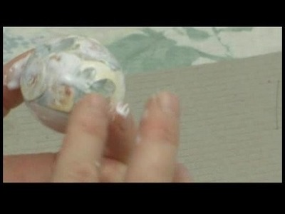 How to Make Decoupage Eggs : Victorian Decoupage Egg: Gluing Motif