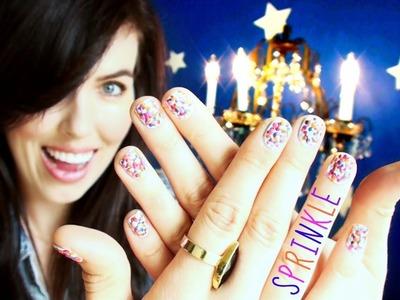 ♥ Nail Tutorial ♥ Sprinkles!