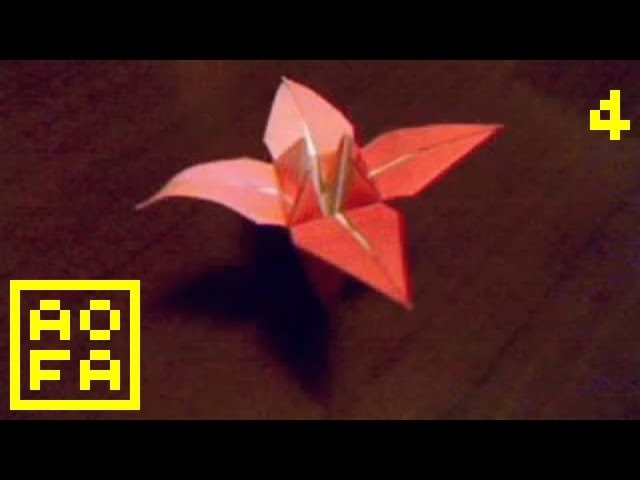 Origami Flower - How to make an Origami Flower (Lily. Iris) . for all (04)