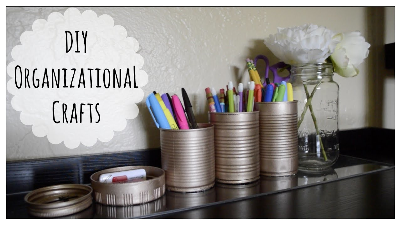 DIY Cord Organizers and Pencil Cups