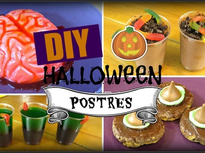 DIY SNACKS.POSTRES HALLOWEEN ♥