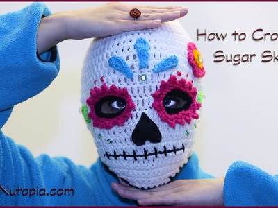 How to Crochet Sugar Skull Ski Mask