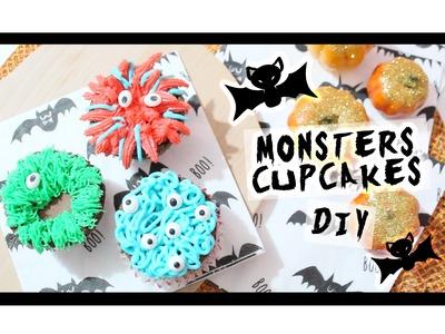 Monsters Cupcakes - Halloween DIY -