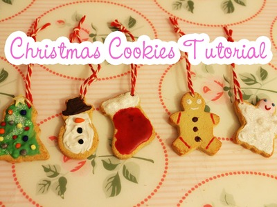 Christmas Cookie Ornaments Tutorial [Polymer Clay]