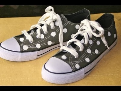 DIY: Polka Dot Tennis Shoes