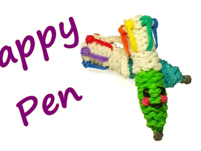 Happy Pen Tutorial by feelinspiffy (Rainbow Loom)