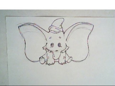 How to draw dumbo (drawing tutorial)