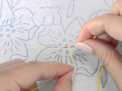 How to embroider a French Knot