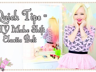 How To Fake A Quick Elastic Belt - Quick Tips - Violet LeBeaux