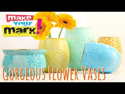 How to make: Gorgeous Flower Vases DIY