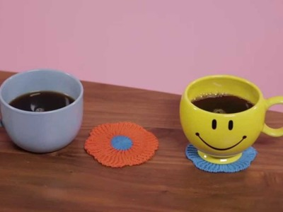 Method: clean happy 101: how to use a coaster
