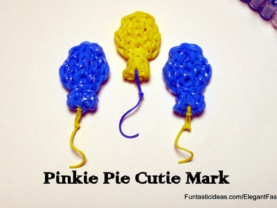 Rainbow Loom Balloons.Pinkie Pie Cutie Mark charm(My Little Pony) - How to