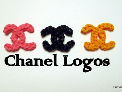 Rainbow loom Chanel Logo charm - How to